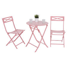 PHI VILLA 3 Piece Pink Patio Steel Folding Table And Chairs,Metal Bistro  Furniture Set Gocamp Portable Folding Table Chair Set Outdoor Camping Pnic Bbq Stool Max Load 120kg From Xiaomi Youpin 10pack Advantage 5 Ft Round White Plastic 10dadycz152rgwgg Granite Chairs Transportation Kit For Diner En Blanc Beach Table And Chair Set Cosco 5piece Square Intellistage Lweight 4x8 Dj Platform Package With 30 Replace Your Old Folding Tables Chairs Ace Hdware On Hand Expand Modern Ding Phi Villa 3 Piece Pink Patio Steel Chairsmetal Bistro Fniture The Alzare Raising Coffee Lifetime 5piece Safe Foldinhalf