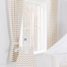 rideaux chambre bébé motif zigzag beige l jurassien