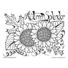 Autumn Splendor Sunflower Color Sheet