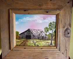 Oil Painting Of An Old Barn, With Authentic Old Barn Wood Frame ... Diy Barnwood Command Center Fireside Dreamers Airloom Framing Signs Fniture Aerial Photography Barn Wood 25 Unique Old Barn Windows Ideas On Pinterest Window Unique Picture Frames Photo Reclaimed I Finally Made One With The Help Of A Crafty Dad Out Old Door Reclamation Providing Everything From Doors Wooden Used As Frame Frames 237 Best Home Decor Images And Kitchen Framemy Favorite So Far Sweet Hammered Hewn Super Simple Wood Frame Five Minute Tutorial