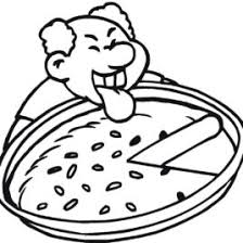 leaf pile coloring page · Cheese Pizza Coloring Page Clipart Panda Free Clipart