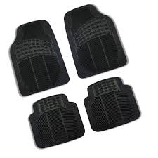 Seat Covers For Car SUV Van Truck With Floor Mat Solid Black ...