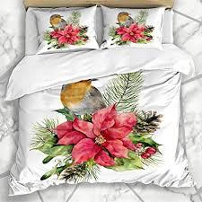 lis home bettbezug sets begrüßung aquarell robin