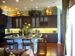Decorating Top Of Kitchen Cabinets Idea Tips For Cabinet Decorations Decor On Your