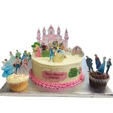 Prince and Princess Castle Scene Edible Wafer Paper Cake Toppers