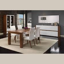 salle a manger complet meuble salle à manger bois table carrée blanc laqué avec rallonge