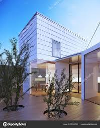 100 Small House Japan Modern Design Families Stock Photo