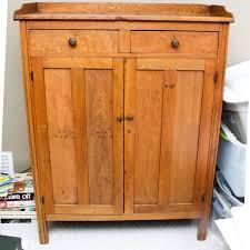 Vintage Walnut Pie Safe Cabinet EBTH