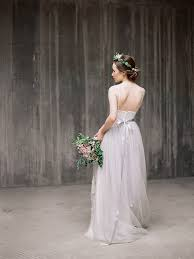 Boho Wedding Dress Icidora Grey Lace Gown Tulle Ballet Inspired Simple Rustic With Straps Milamira