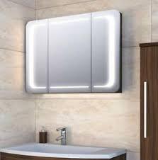 moderner design spiegelschrank wings 90 cm mit led