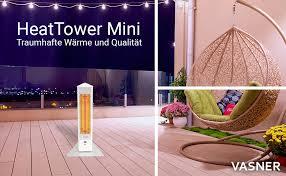 vasner heattower mini standheizstrahler 1500 w infrarot