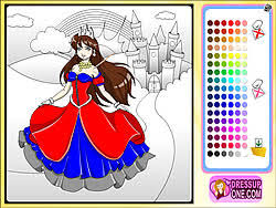 Play Castle Of Princess Coloring Game Online