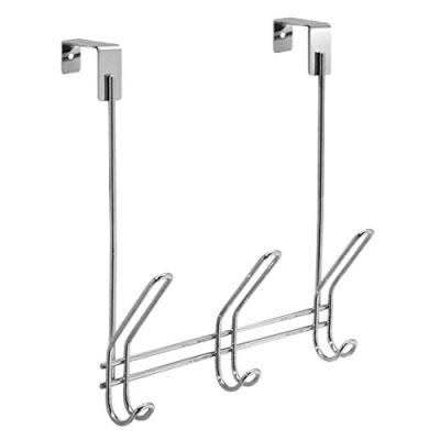 InterDesign Classico Over the Door 3-Hook Rack - Chrome