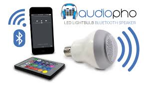 Audiopho E27 LED Bluetooth Speaker Bulb with Dimmable Multicolored