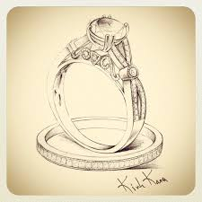 """Stunning Sketch of our new engagement ring form the """"XO"""" collection 3 Stay Jewelry DrawingJewellery SketchesRing SketchWedding"""