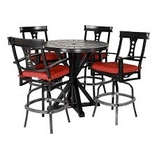 Jamaica 5 Pc Round Bar Height Dining Set