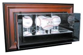 Caseworks N A Wall Mounted Baseball Display Case Wood Diecast