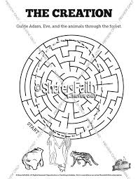 The Creation Story Bible Maze Activity