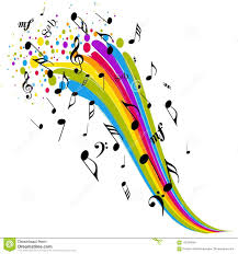 Music Sign Rainbow Color Notes Stock Vector Illustration Of Note