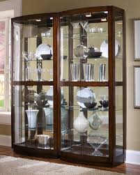 Curved Glass Curio Cabinet by Curio Cabinet 21221 Bunching Curio