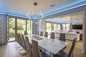 esszimmer mit glastisch inneneinrichtung weberhaus luxus