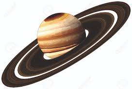 Planet Saturn With Rings Located In Solar System Milky Way Galaxy Endless Universe Science Education