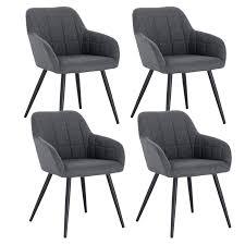 woltu 4 x esszimmerstühle 4er set esszimmerstuhl küchenstuhl polsterstuhl design stuhl mit armlehne mit sitzfläche aus samtmöbel