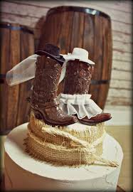 Cowboy Boots Wedding Cake Topper Western Themed Rustic
