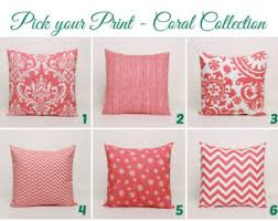 Coral Colored Decorative Accents by Coral Throw Pillows Etsy