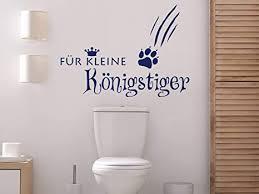 grazdesign wandtattoo badezimmer für kleine königstiger