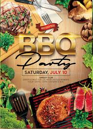Saturday BBQ Party Flyer