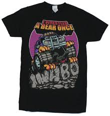 I Wrestled A Bear Once (IWABO) Mens T-Shirt - Monster Truck Image On ... Rusty Nuts Tshirt Back Alley Wear Monster Truck El Toro Loco Onesie For Sale By Paul Ward Off Road School Mens Black T0f4huafd Toddler Boys Blaze And The Trucks Group Shot Tshirt 2t Ebay Over Bored Merchandise Vintage 80s Dragon Wagon Tag Xl Fits Large Deadstock Kids Rap Attack Thrdown Truck Tshirt Built4bbq Small Cooler Fast Monster Tshirts 1 Gift Ideas Popular Wonderkids Infant 5th Birthday Boy 5 Year Old Christmas