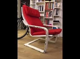 before and after ikea s poang chair upcycled and turned into a