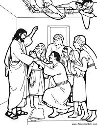 Jesus Heals The Paralytic Man Colouring Sheet