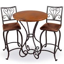 100 Bar Height Table And Chairs Walmart Alexander 40in Tall Top And Iron Base Finish Options