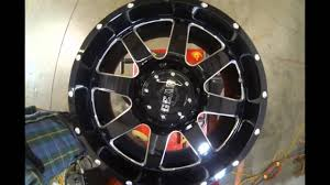 100 Gear Truck Wheels Alloy Big Block 726 Black Machined YouTube