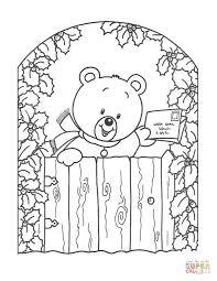 Teddy Bear With Christmas Greeting Card
