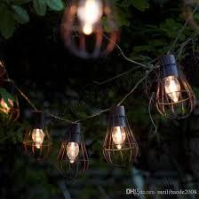 2017 New 10led Solar Garden Light Led Solar Bulb Vintage Cage