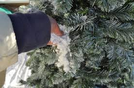 I Then Took A Small Handful Of The Flocking Powder And Sprinkled It On Wet Sections Tree