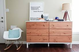 tarva 6 drawer dresser ikea tarva dresser hack 6 drawer paint stain combo diy projects
