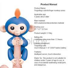 High Quality Finger Monkey Toys Interactive Electronic LED With Blink And Speak Fingerlings Baby Smart