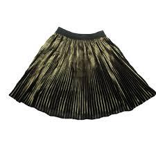 gaudi teen girls gold pleated skirt