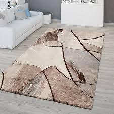 wohnzimmer teppich kurzflor 3d optik geometrisches design