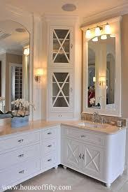 Small Bathroom Corner Vanity Ideas by Best 25 Bathroom Corner Cabinet Ideas On Pinterest Corner