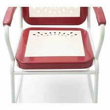 Retro Vintage Style Red White Metal Patio And 49 Similar Items
