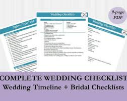 Bridal Checklist PDF Wedding Timeline Printable To Do Lists Monthly Checklists