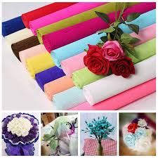 5pcs 50x70cm Crepe Papers Wrapping Flowers Packing Material DIY Flower Making Handmade Diy Paper Craft