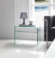 ancoma design beistelltisch stylus aus glas klar 52 x 44 x