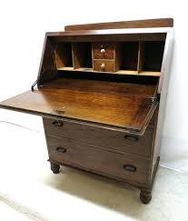 Tiger Oak Dresser Chest by Desk Drop Leaf Secretary Desk Antique Antique Art Deco Tiger Oak