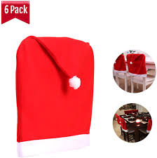MAYROUND Santa Hat Chair Covers Set Of 6, Red Christmas Dining Chair Covers  For Dining Room Chairs Kitchen Chair Covers Sets Decorations Chair Covers Amazoncom 6 Pcs Santa Claus Chair Cover Christmas Dinner Argstar Wine Red Spandex Slipcover Fniture Protector Your Covers Stretch 8 Ft Rectangular Table 96 Length X 30 Width Height Fitted Tablecloth For Standard Banquet And House 20 Hat Set Everdragon Back Slipcovers Decoration Pcs Ding Room Holiday Decorations Obstal 10 Pcs Living Universal Wedding Party Yellow Xxxl Size Bean Bag Only Without Deisy Dee Low Short Bar Stool C114 Red With Green Trim Momentum Lovewe 6pcs Nordmiex Spendex 4 Pack Removable Wrinkle Stain Resistant Cushion Of Clause Kitchen Cap Sets Xmas Dning